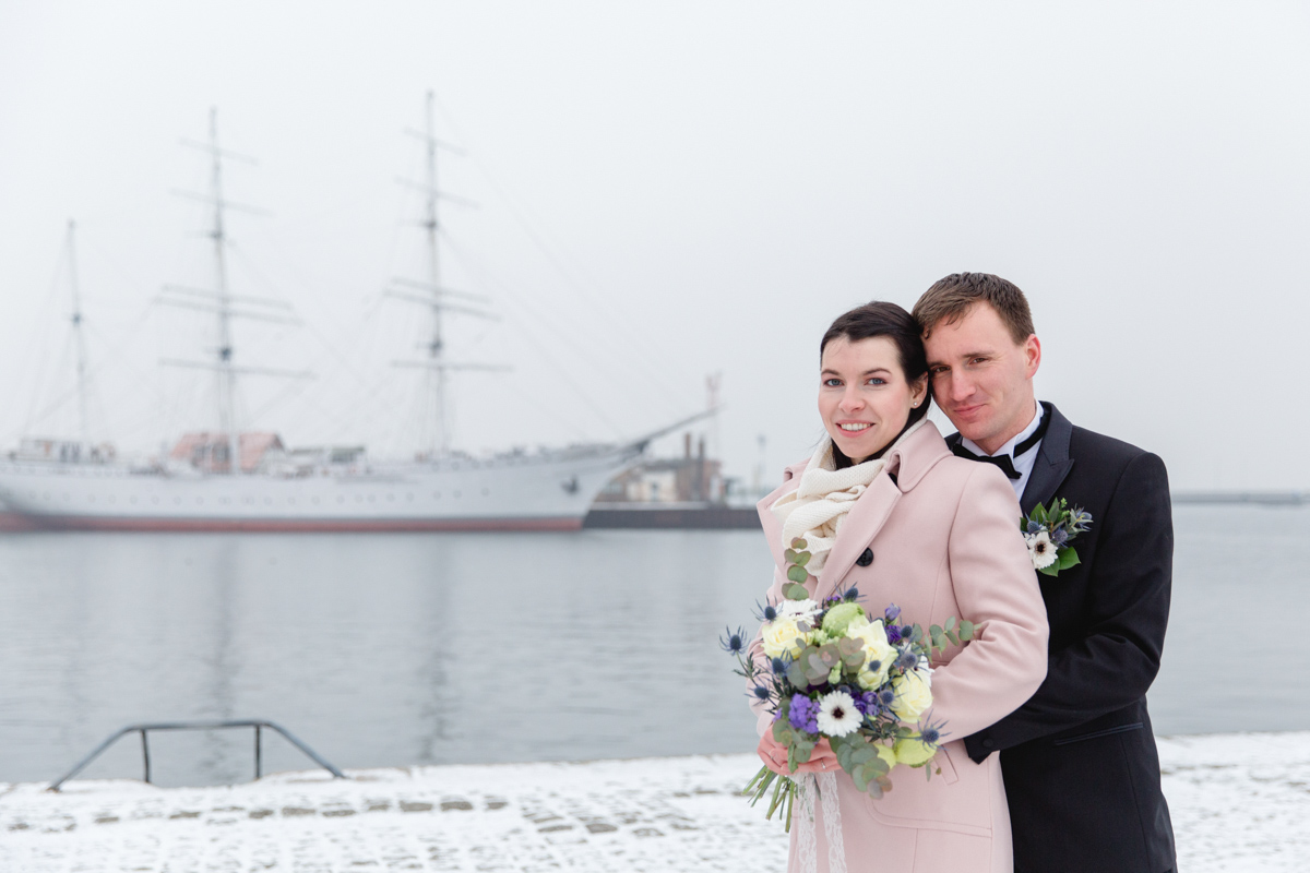 Heiraten in Stralsund, auf der Gorch Fock.