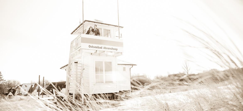 Auf dem Rettungsturm in Ahrenshoop