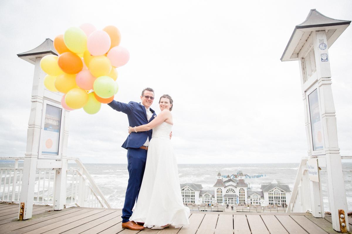 Paarshooting mit Luftballons