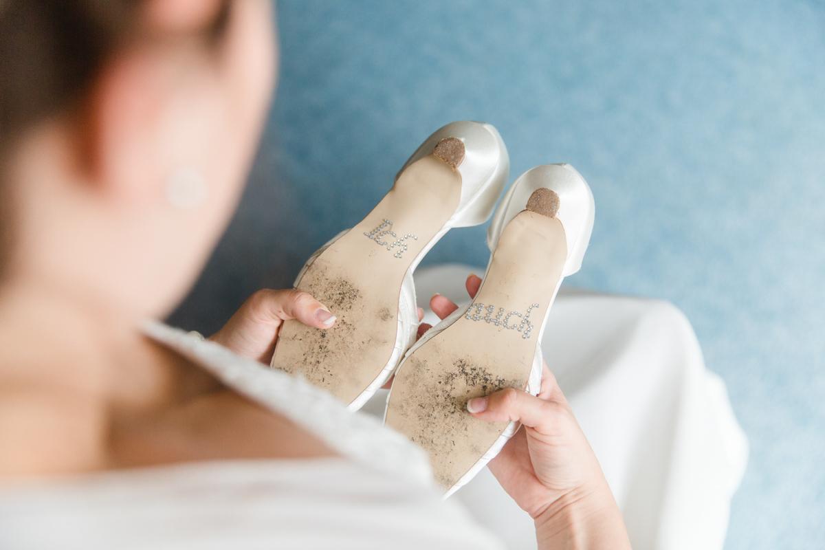 Schuhaufkleber Braut