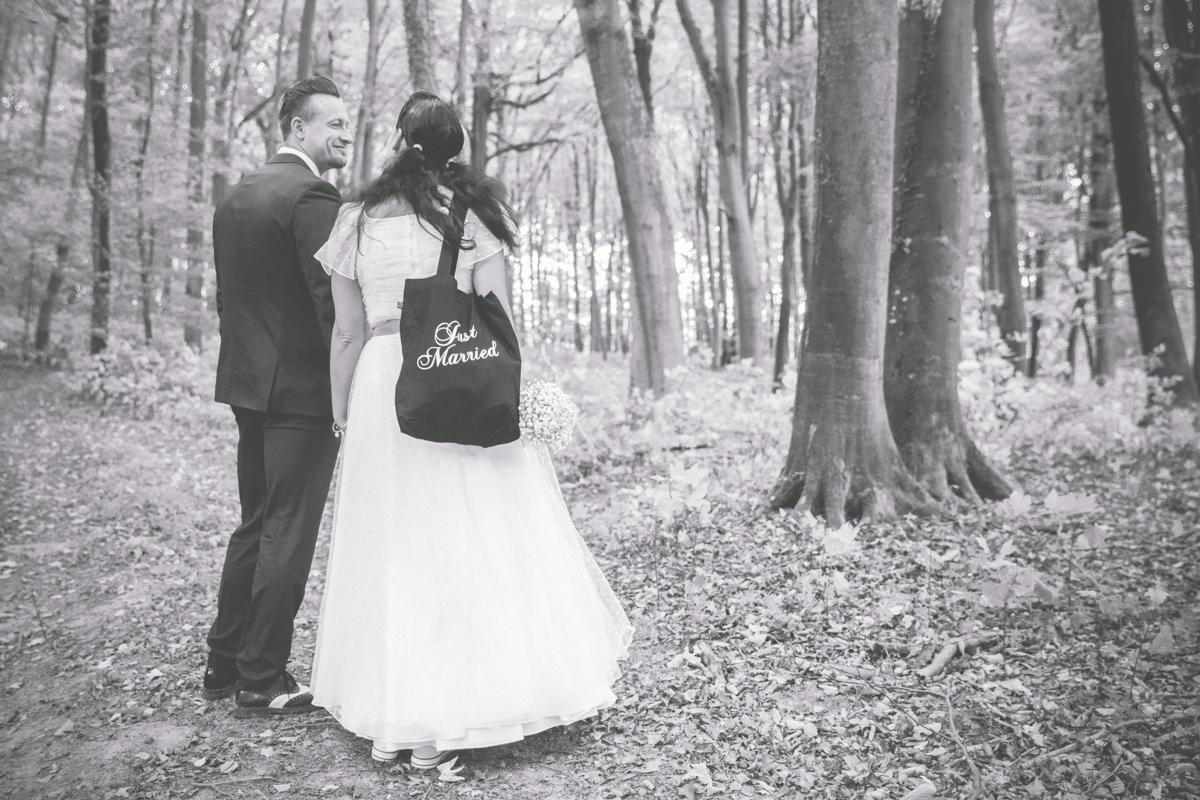 Brautpaar im Wald von Binz