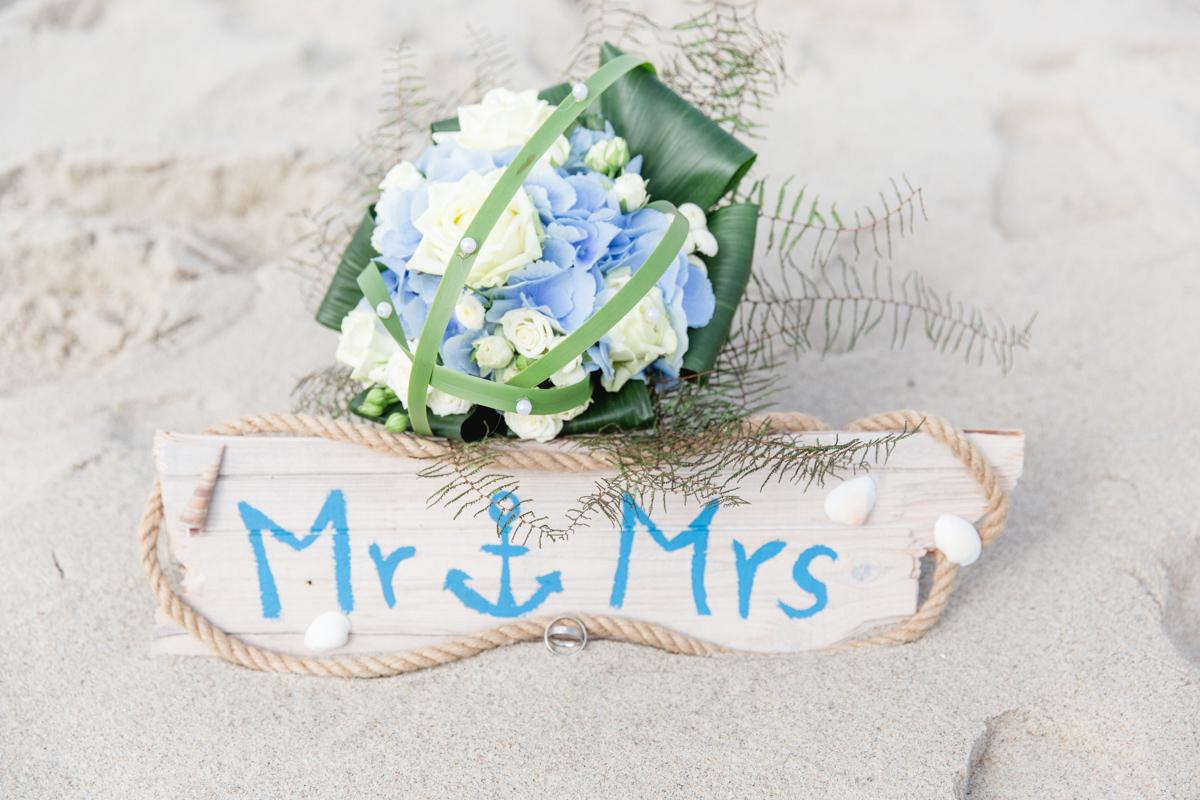 Strand Brautstrauß