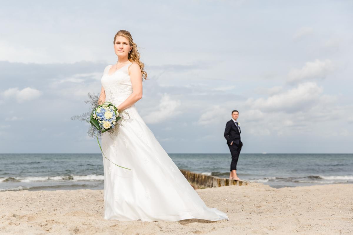 Tolle Hochzeitsfotos am Strand