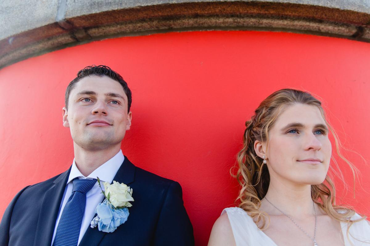 Portraitaufnahme des Brautpaares