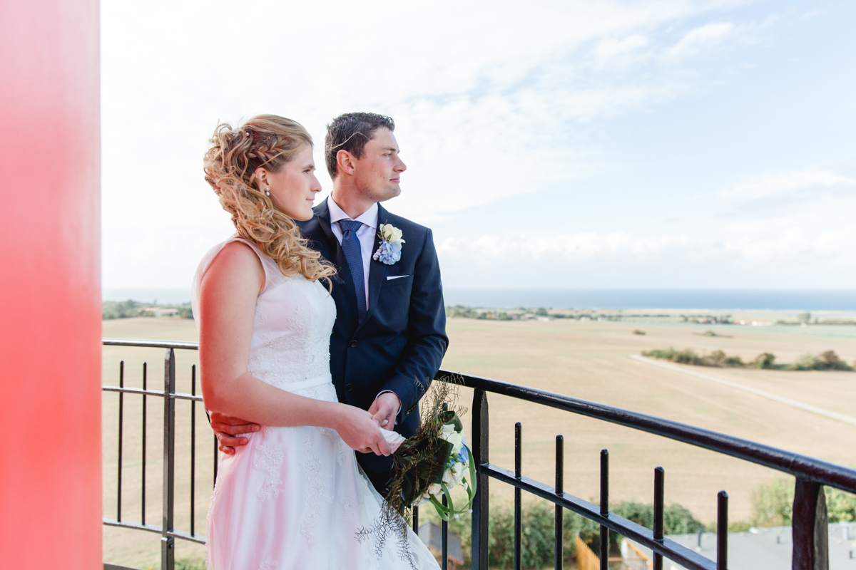 Ausblick des Brautpaares vom Turm
