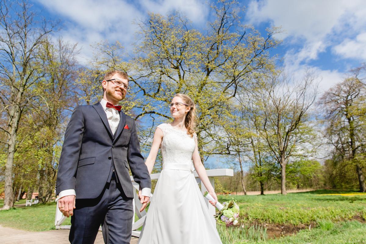 Hochzeitsfoto im Park Bad Doberan.