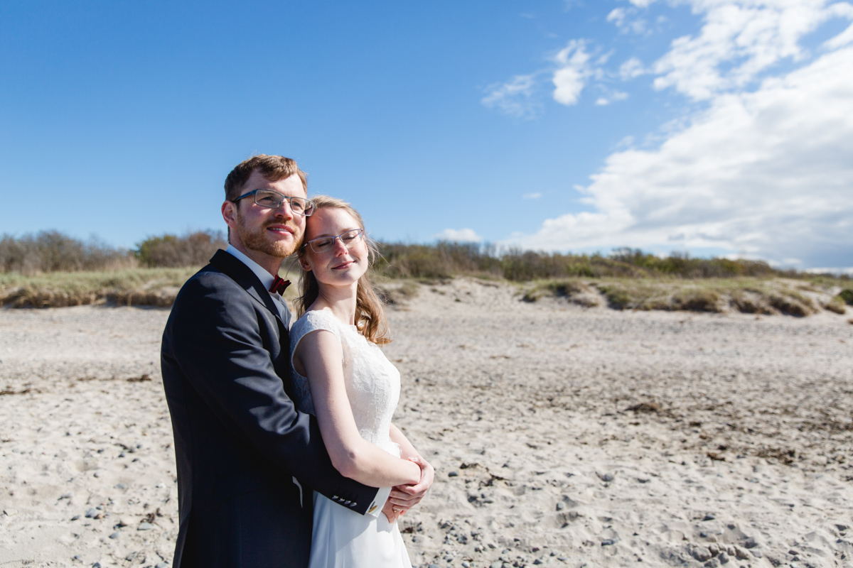 Hochzeitsfoto am Strand Börgerende
