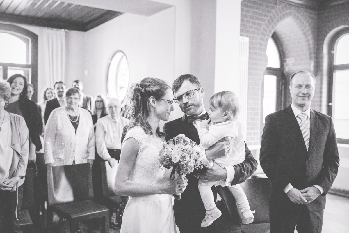 Hochzeitszeremonie in Bad Doberan.