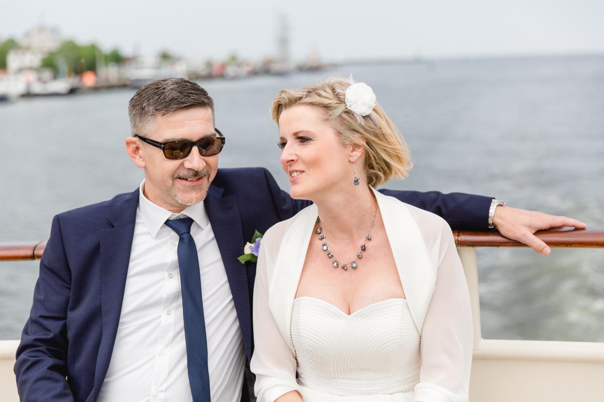Hochzeit auf einem Schiff in Rostock.