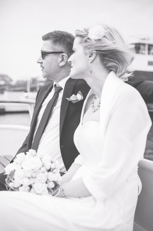 Heiraten auf einem Schiff in Rostock.