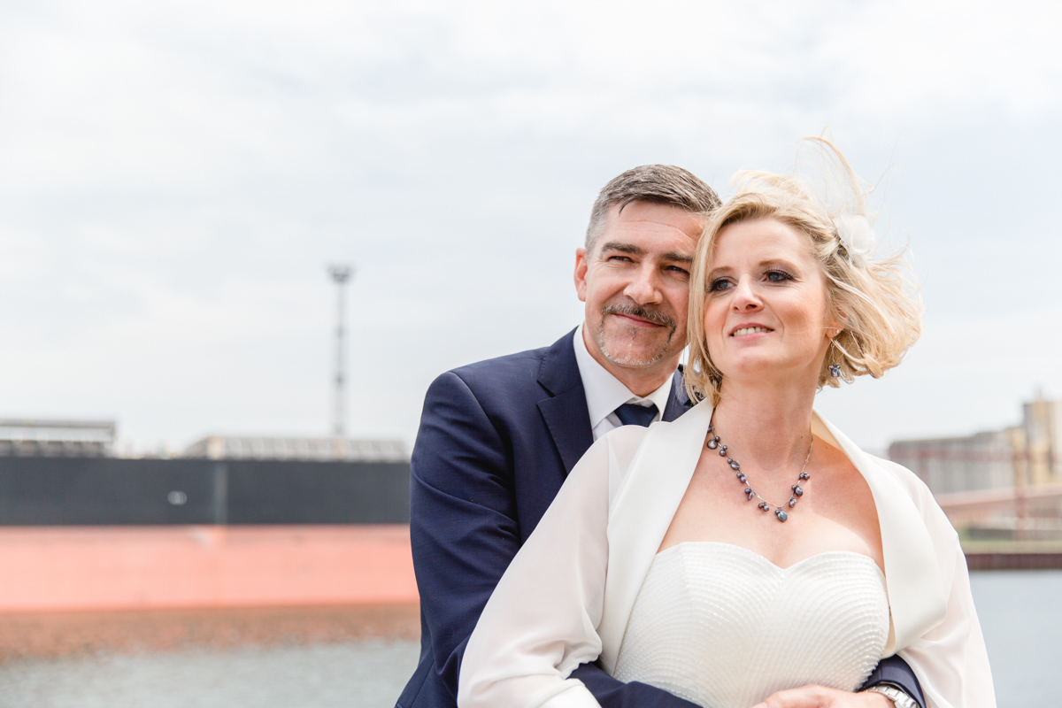 Hochzeit auf dem Schiff in Warnemünde.