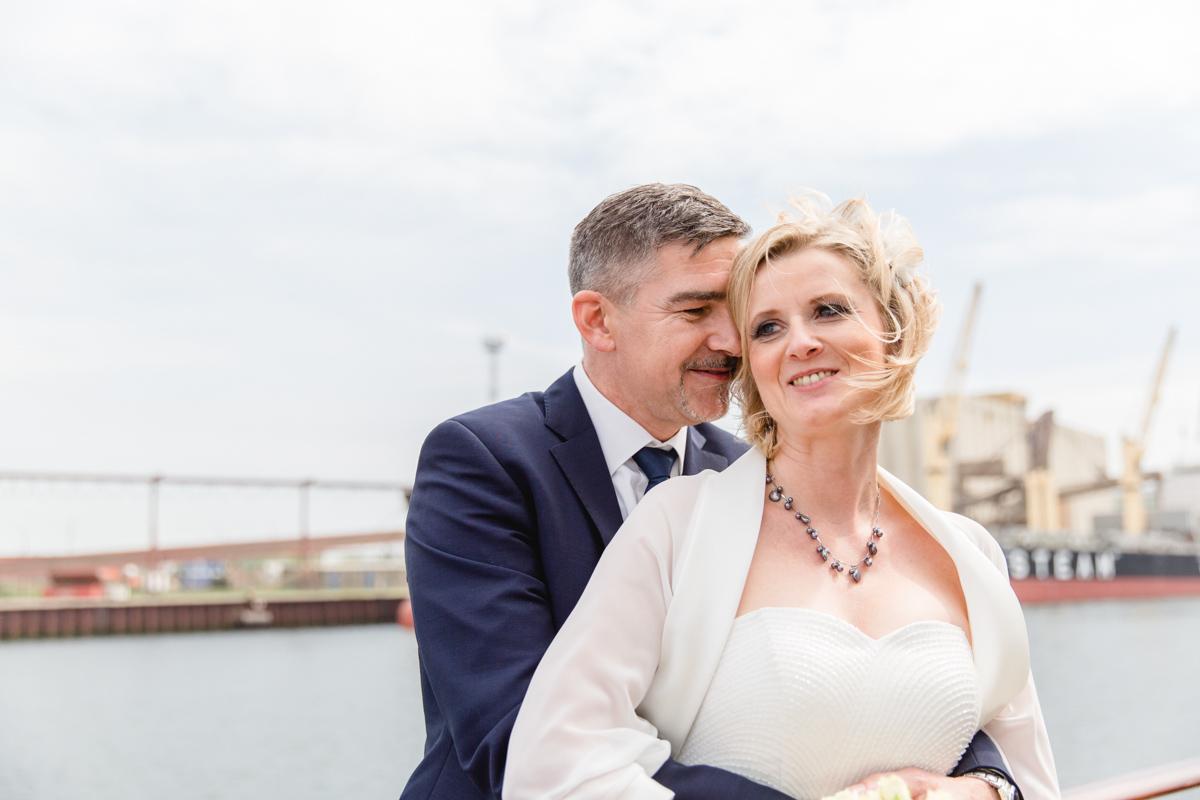 Heiraten auf dem Schiff in Warnemünde.