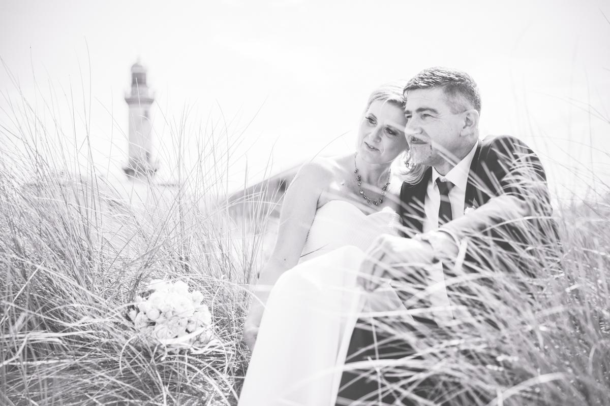 Hochzeitsfoto von einer Strandhochzeit.