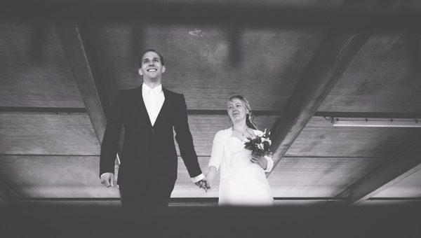 Schietwetter beim Brautpaarshooting - Teil 2: Hochzeitsfotos im Parkhaus