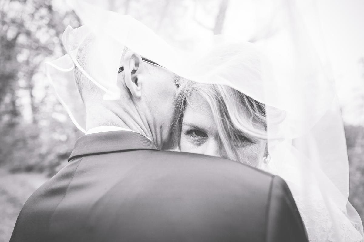 Braut mit Schleier.