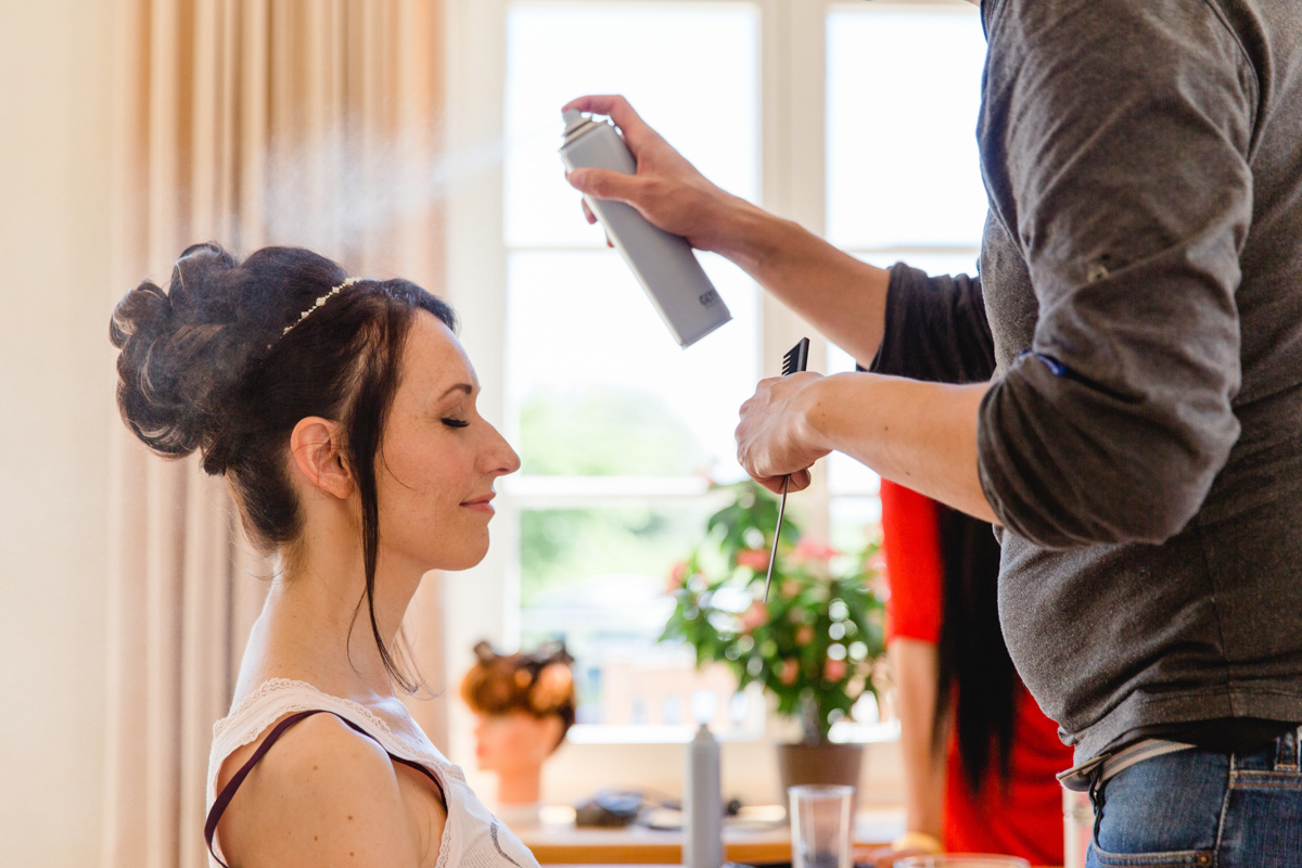 Brautstyling vom Friseur.