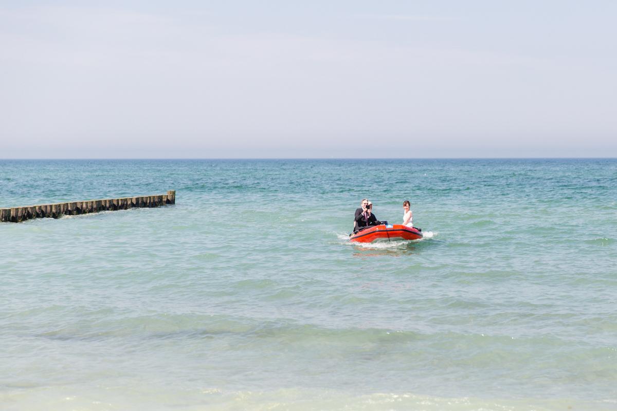 Anreise der Braut mit dem Boot.
