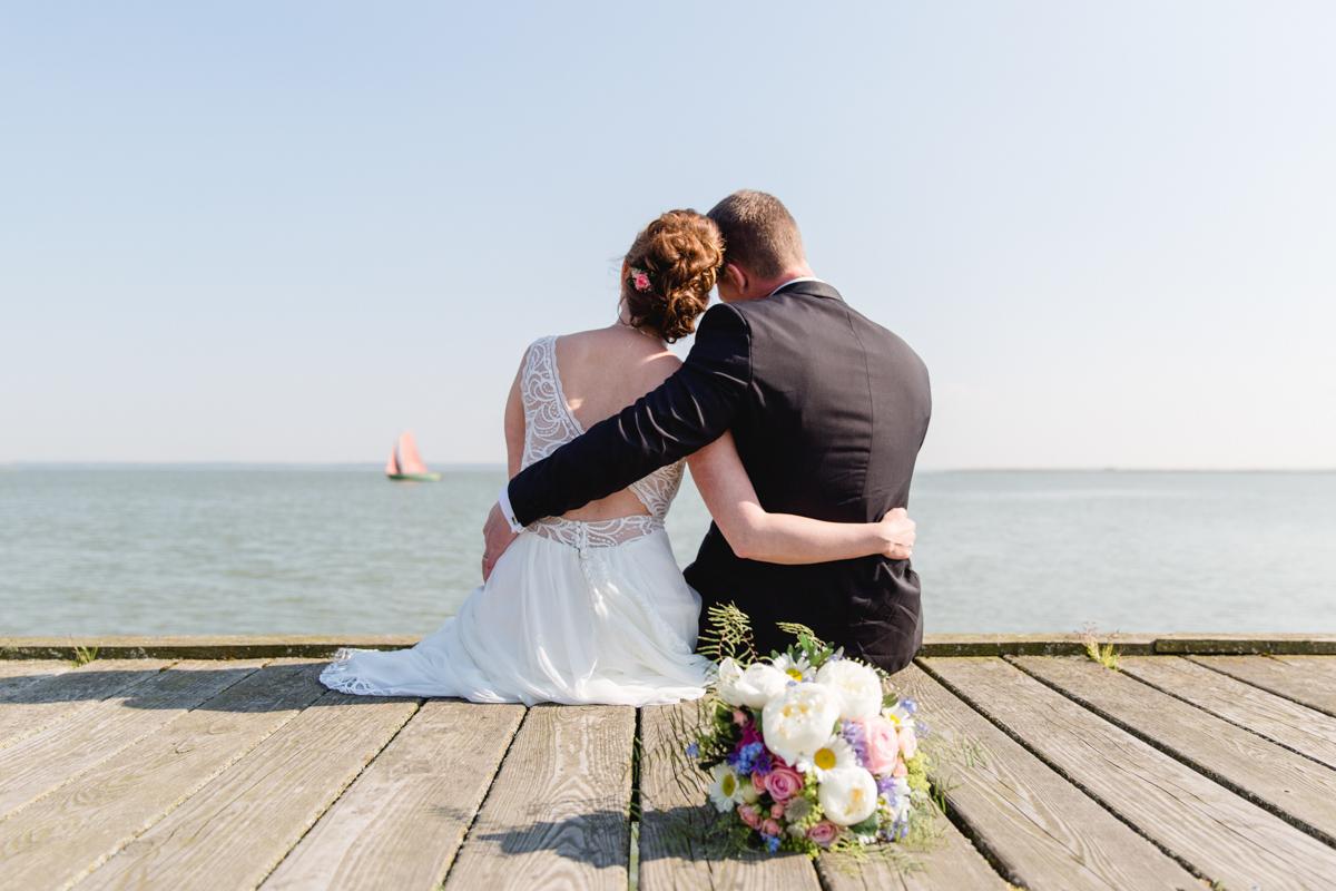 Emotionales Hochzeitsfoto.