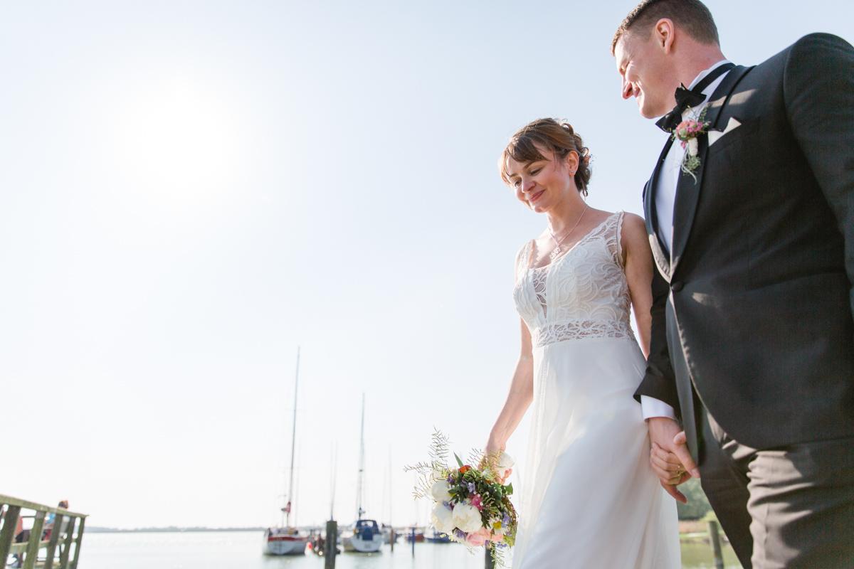 Brautpaarfotoshooting in Ahrenshoop.