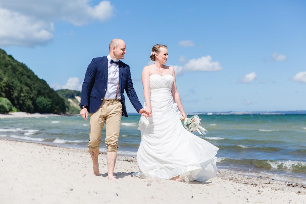 Hochzeitsfotos am Meer in Sellin.