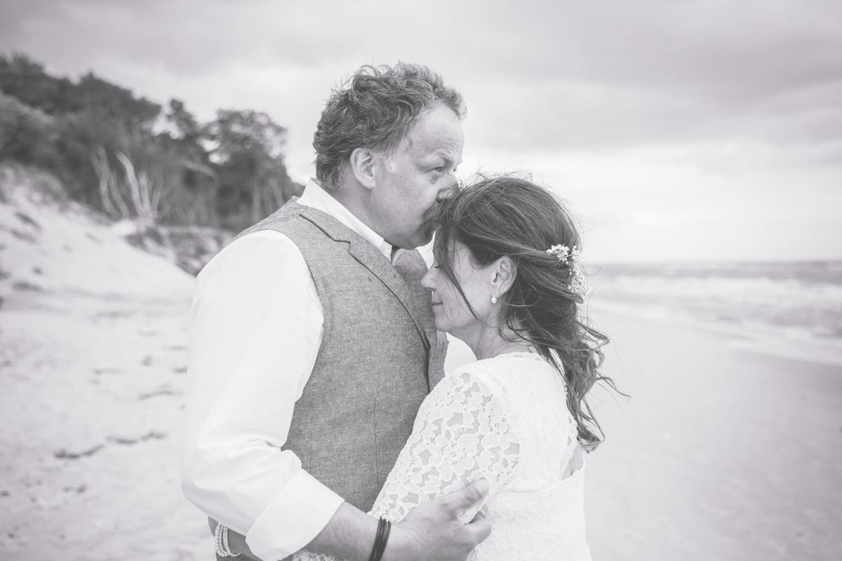 Intime Hochzeit am Strand.