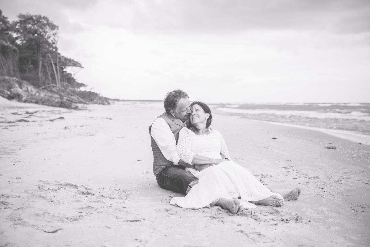 Intime Hochzeit am Meer.