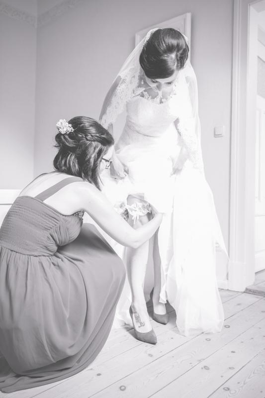 Hochzeitsfoto aufgenommen beim Getting Ready.