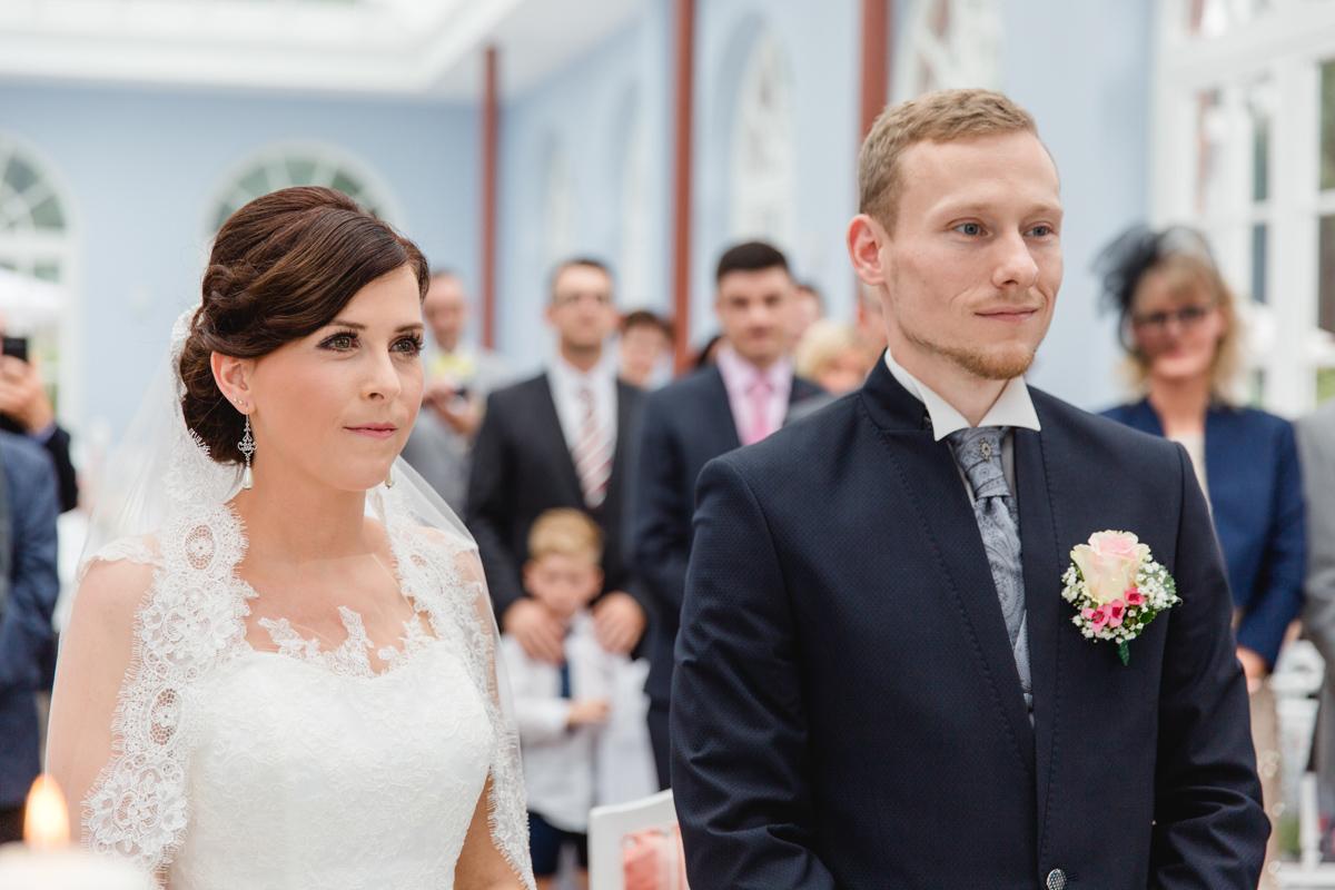 Hochzeitszeremonie im Gut Groß Siemen.