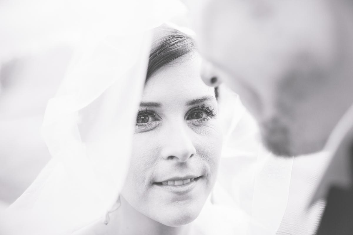 Hochzeitsfoto einer Braut.