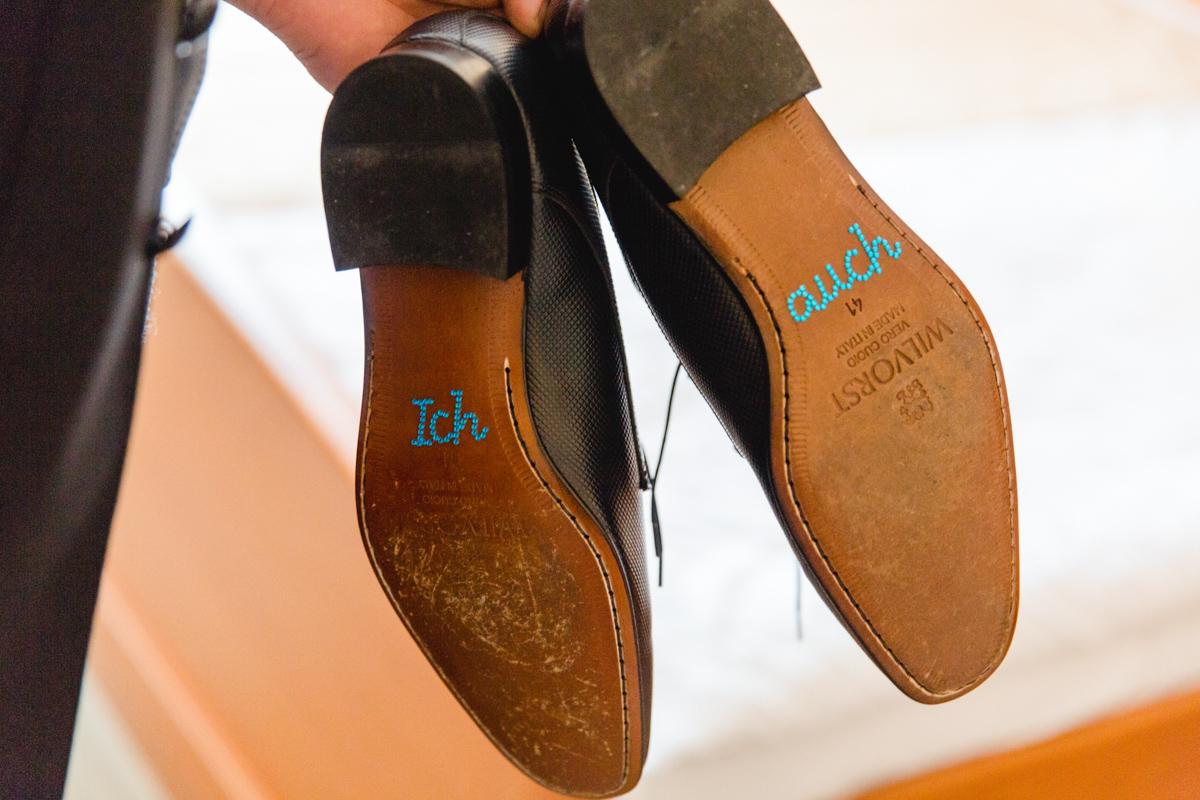 Detailsfoto Schuhe des Bräutigams.