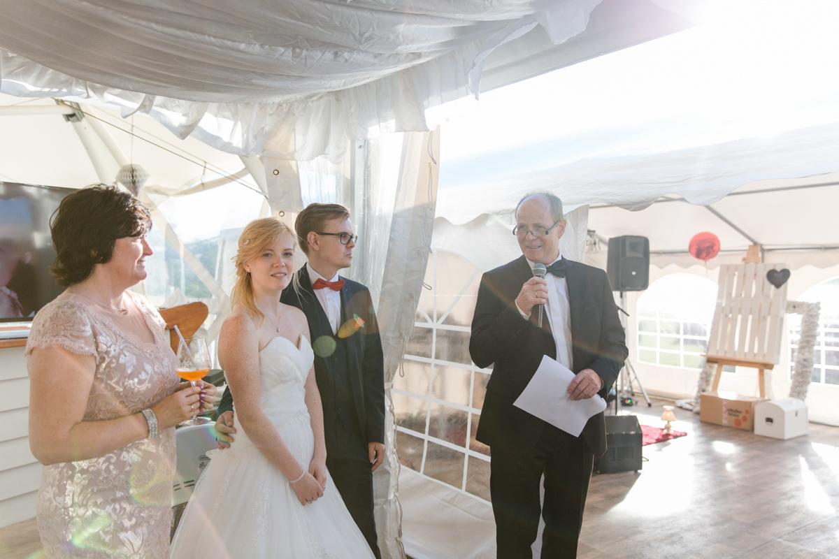 Hochzeitsrede in Rostock.