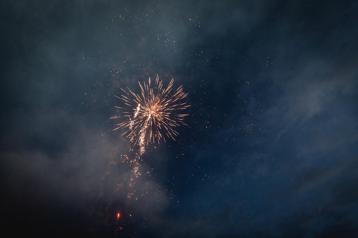 Feuerwerk in Rostock.