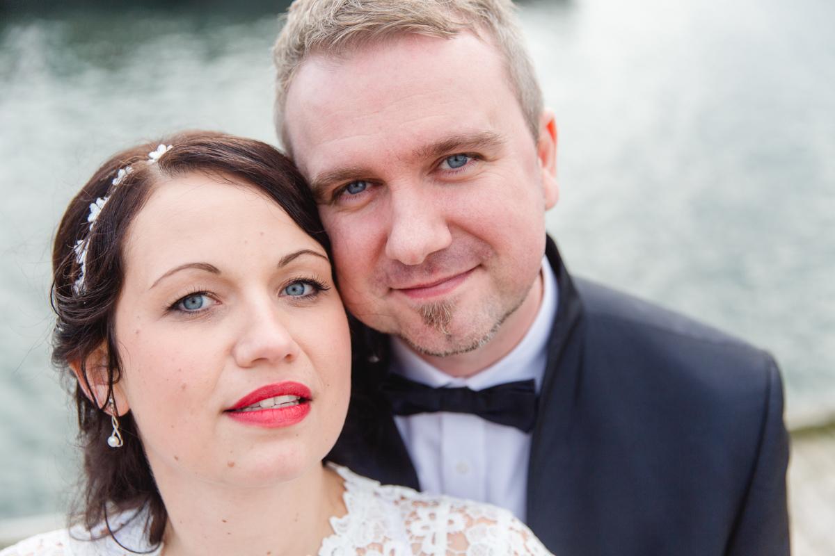 Portraitfoto eines Brautpaares.