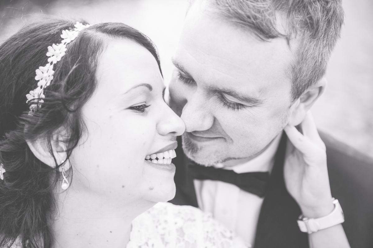 Brautpaar beim Portraitshooting.