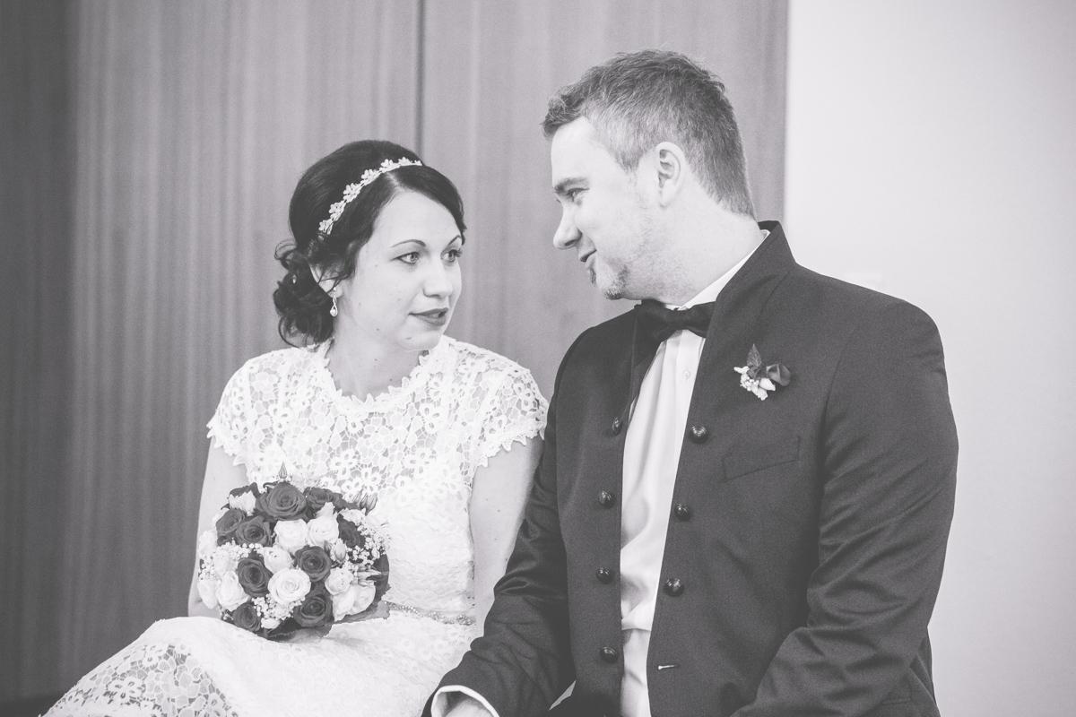 Brautpaar im Standesamt Wismar.