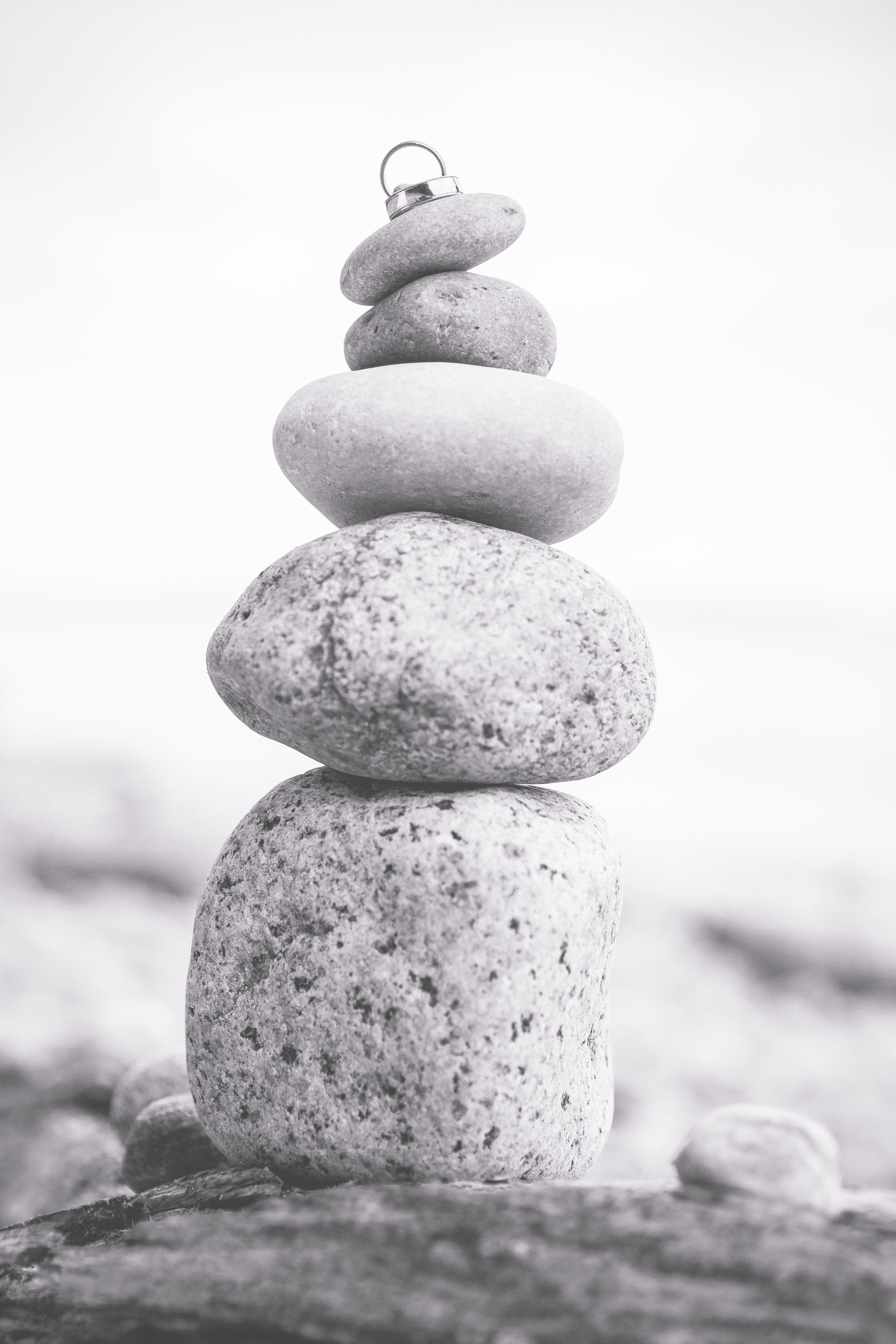 Eheringe fotografiert auf einem Stein.