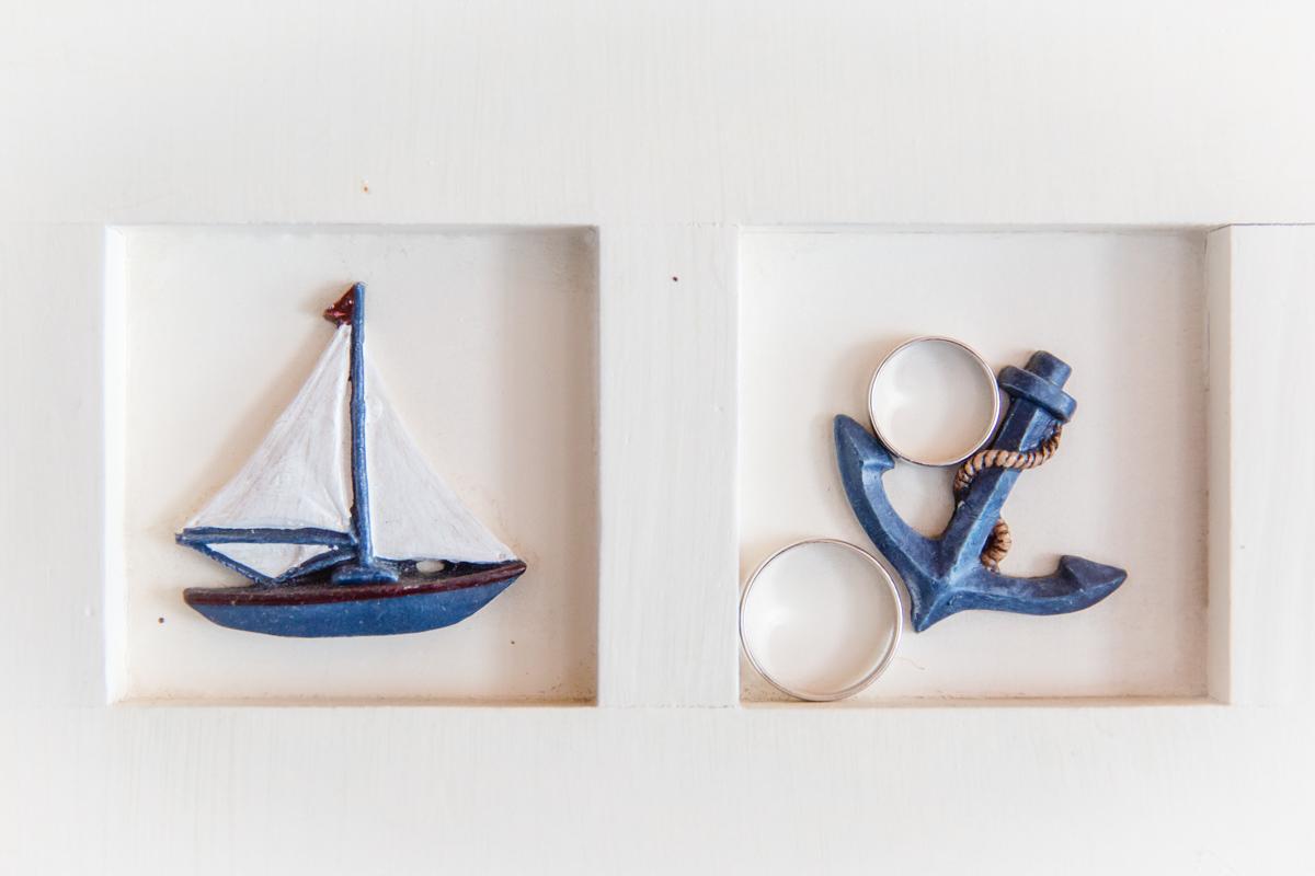 Ringfoto mit Anker und Schiff