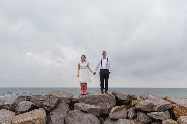 Hochzeitsreportage in Wismar mit Brautpaarshooting auf der Insel Poel