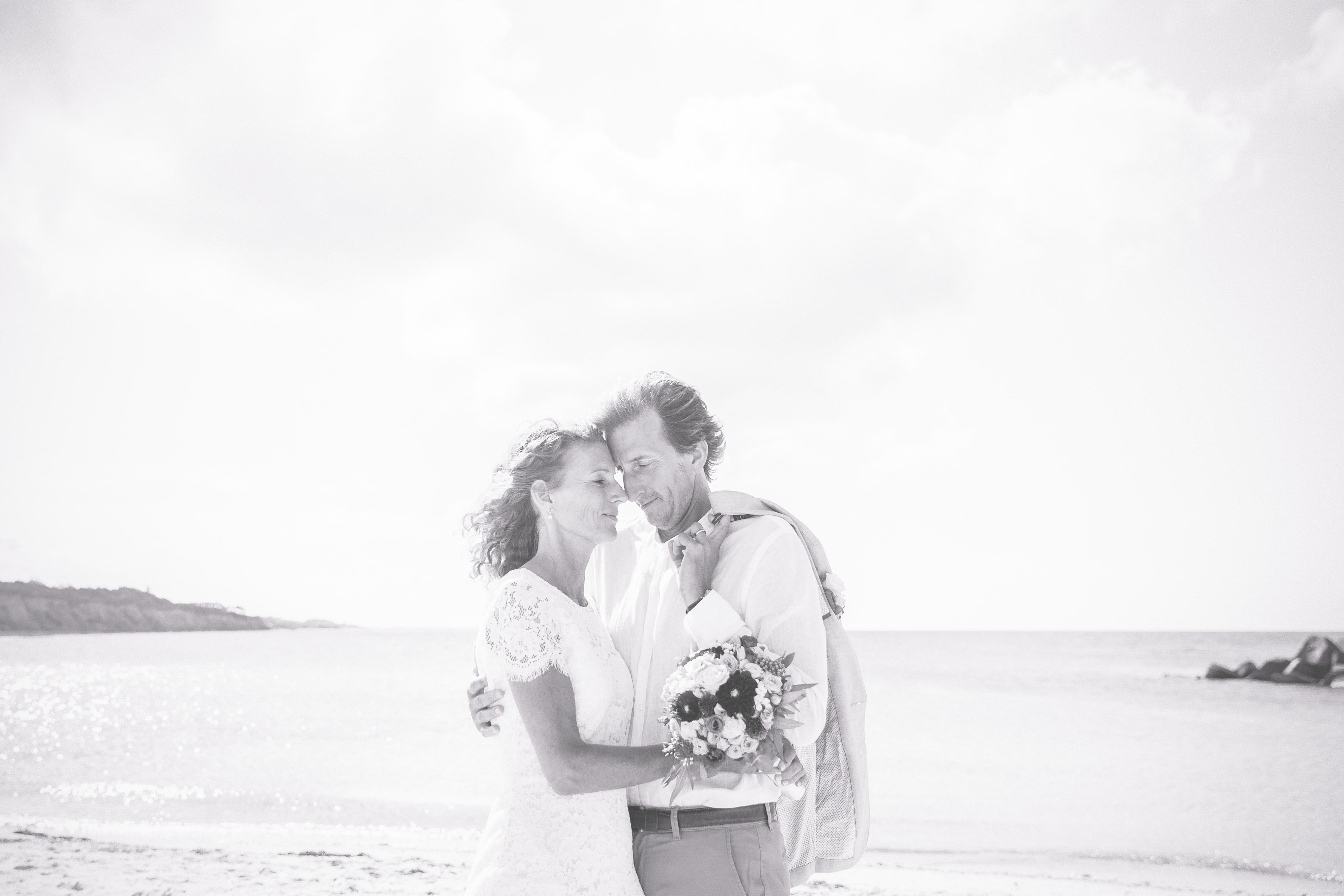 Älteres Paar beim Shooting an der Ostsee.