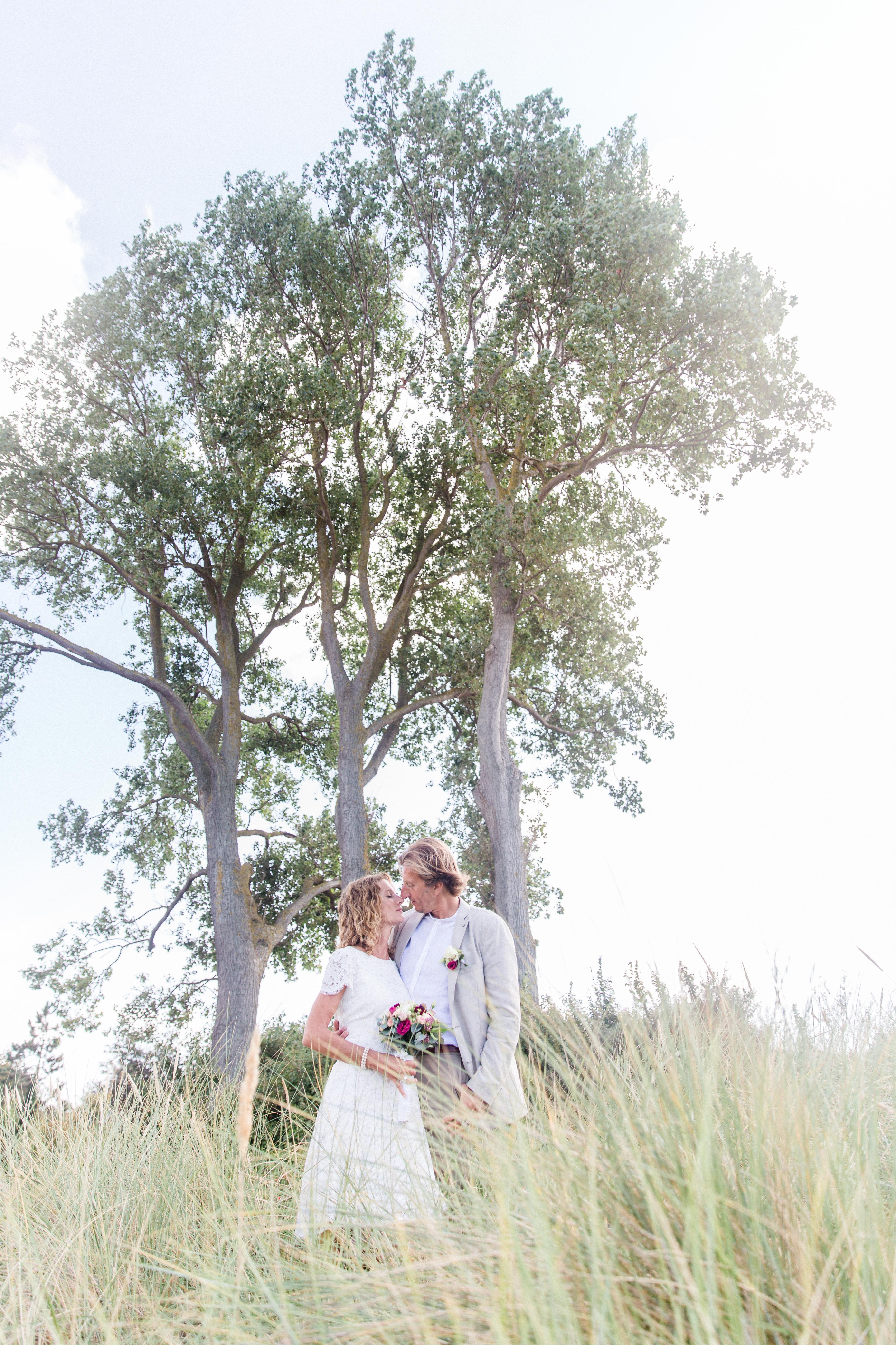Brautpaarfotoshooting in der Düne.
