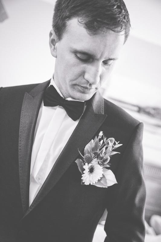 Hochzeitsfoto vom Bräutigam.