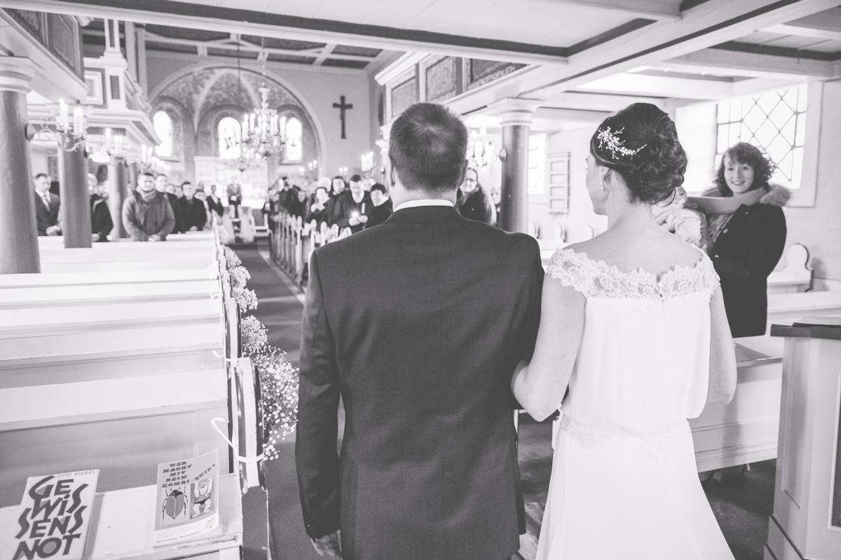Einzug der Braut in die Kirche in Neuruppin.