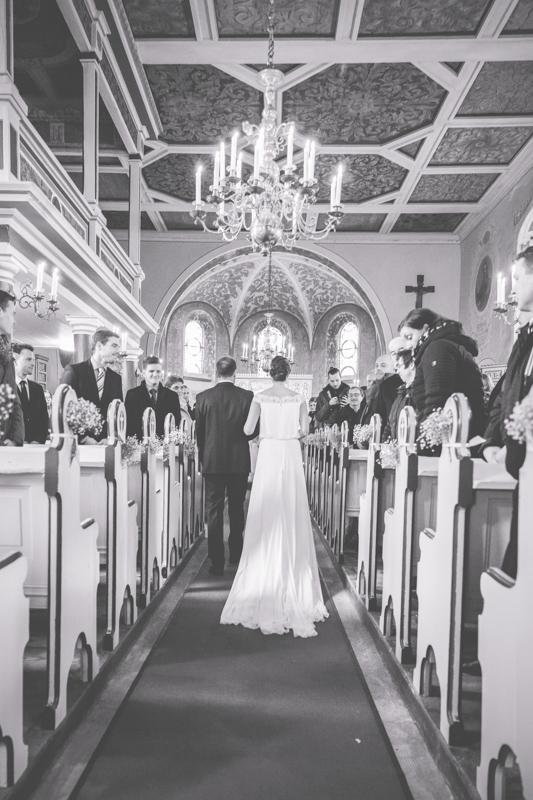 Brauteinzug in die Kirche in Neuruppin.
