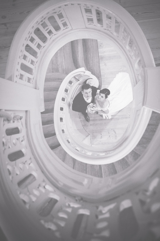 Hochzeitsfotos innen aufgenommen.