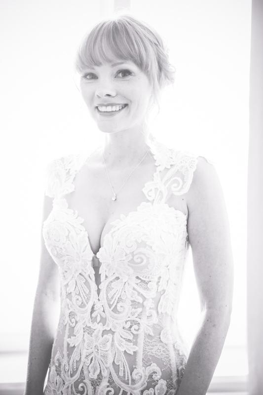 Die Braut am Hochzeitsmorgen.