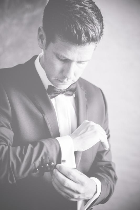 Der Bräutigam am Hochzeitsmorgen.