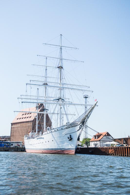 Die Gorck Fock in Stralsund.