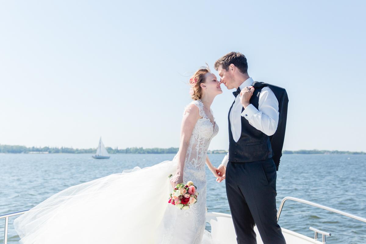 Fotoshooting des Brautpaares in Stralsund.