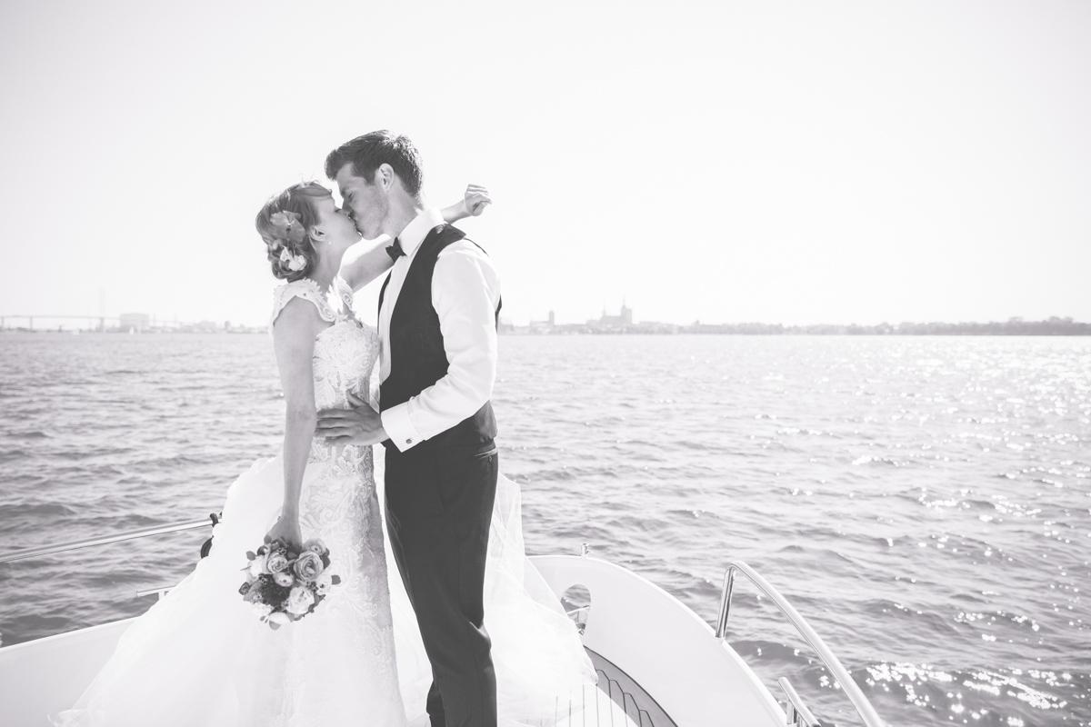 Heiraten auf einer Motoryacht in Stralsund.