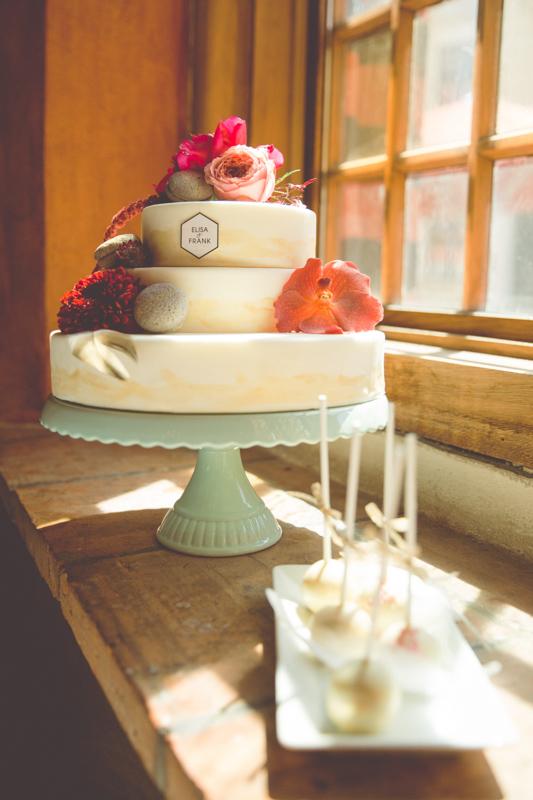 Foto der Hochzeitstorte.